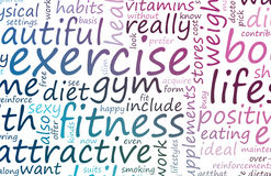 Health and Fitness. List as Abstract Background stock illustration