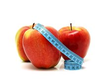 Health and Fitness and Apples Royalty Free Stock Photography