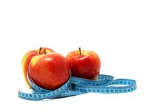 Health and Fitness and Apples Royalty Free Stock Image