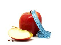 Health and Fitness and Apples Royalty Free Stock Photos