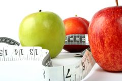 Health and fitness - apples Stock Photo