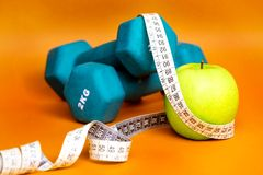 Health and fitness composition Stock Images