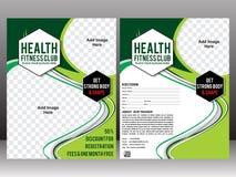 Health fitness flyer brochure & magazine cover design Stock Images