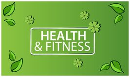 Health And Fitness on green background. EPS file available. see more images related vector illustration