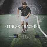 Health Fitness Healthcare Tracking Technology Concept Royalty Free Stock Photography