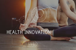 Health Fitness Healthcare Tracking Technology Concept stock photos
