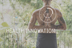 Health Fitness Healthcare Tracking Technology Concept stock photography