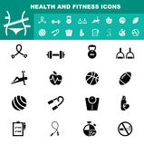 Health and fitness icon  Stock Images