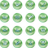 Health and Fitness Icon Set Stock Photography