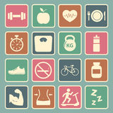 Health and Fitness icon Royalty Free Stock Photography