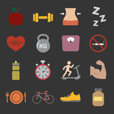 Health and Fitness icon Royalty Free Stock Photo