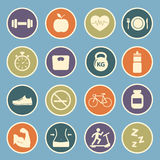 Health and Fitness icon Royalty Free Stock Image