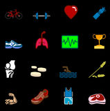 Health and fitness icon set series Royalty Free Stock Image