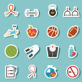Health and fitness icon vector Stock Images