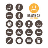 Health & fitness icon. Vector illustration. Royalty Free Stock Photography