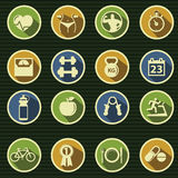 Health and Fitness icons. Set Royalty Free Stock Images
