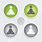 Health and Fitness icons set - yoga icon. Health and Fitness icons set - yoga icon Stock Photography