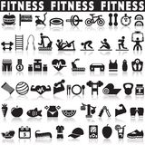 Health and Fitness icons. Vector set icons Stock Photo
