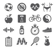 Health and Fitness icons Stock Photo