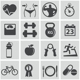 Health and Fitness icons. Health and Fitness, workout icons Royalty Free Stock Image