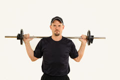Health and Fitness Man Weight Training Stock Photography