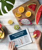 Health Fitness Nutrition Monitor Wellness Concept. Health Fitness Nutrition Digital Device Monitor Wellness royalty free stock images