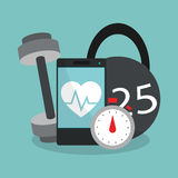 Health and fitness related icons image Royalty Free Stock Images