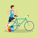Health and fitness related icons image Royalty Free Stock Image