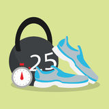 Health and fitness related icons image Stock Photography