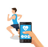 Health and fitness related icons image Royalty Free Stock Photography