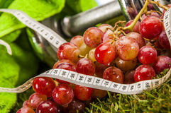 Health and fitness stuff with fruits and vegetables Royalty Free Stock Photography