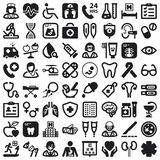 Health flat icons. Black Stock Photography