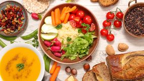 Health food banner royalty free stock photography