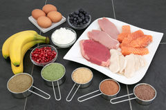 Health Food for Body Builders Royalty Free Stock Photos