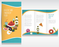 Health food brochure design. Stock Images
