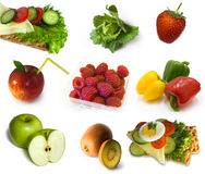 Health food collection Stock Images