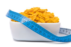 Health food. Corn flakes. Royalty Free Stock Photos