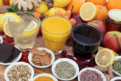 Health Food and Drink Remedies Stock Photography