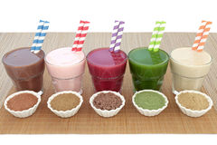 Health Food Drink Selection Royalty Free Stock Photo