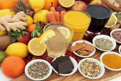 Health Food and Drinks Stock Photography