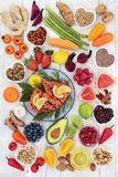 Health Food for a Healthy Heart Stock Image