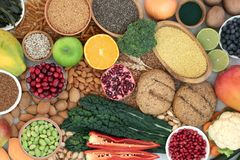 Health Food for a High Fibre Diet royalty free stock image