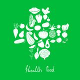 Health food icons Stock Photography
