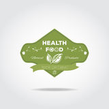 Health food label Royalty Free Stock Photography