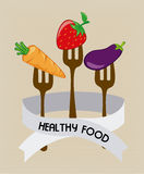 Health food label Royalty Free Stock Photo