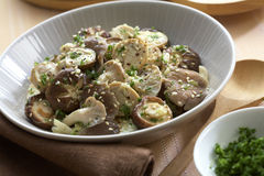 Health food. Mushroom grilled and sesame sauce Stock Photography