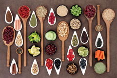Health Food Sampler Royalty Free Stock Images
