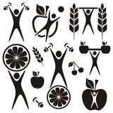 Health and food symbols Stock Photo