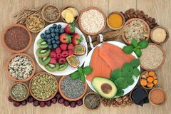 Free Health Food To Reduce Anxiety And Stress Royalty Free Stock Photography - 150217427