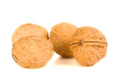 Health food walnut snack on isolated background Stock Photos
